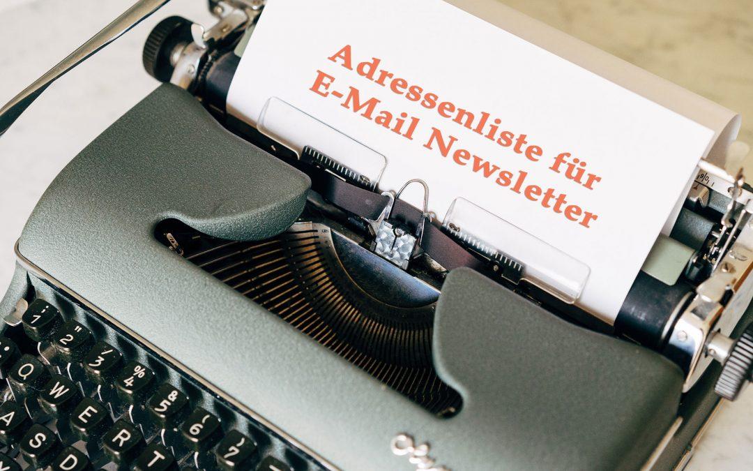 Wie Sie eine E-Mail Adressenliste aufbauen