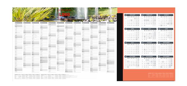 Jahresplaner bis A0 bedrucken lassen