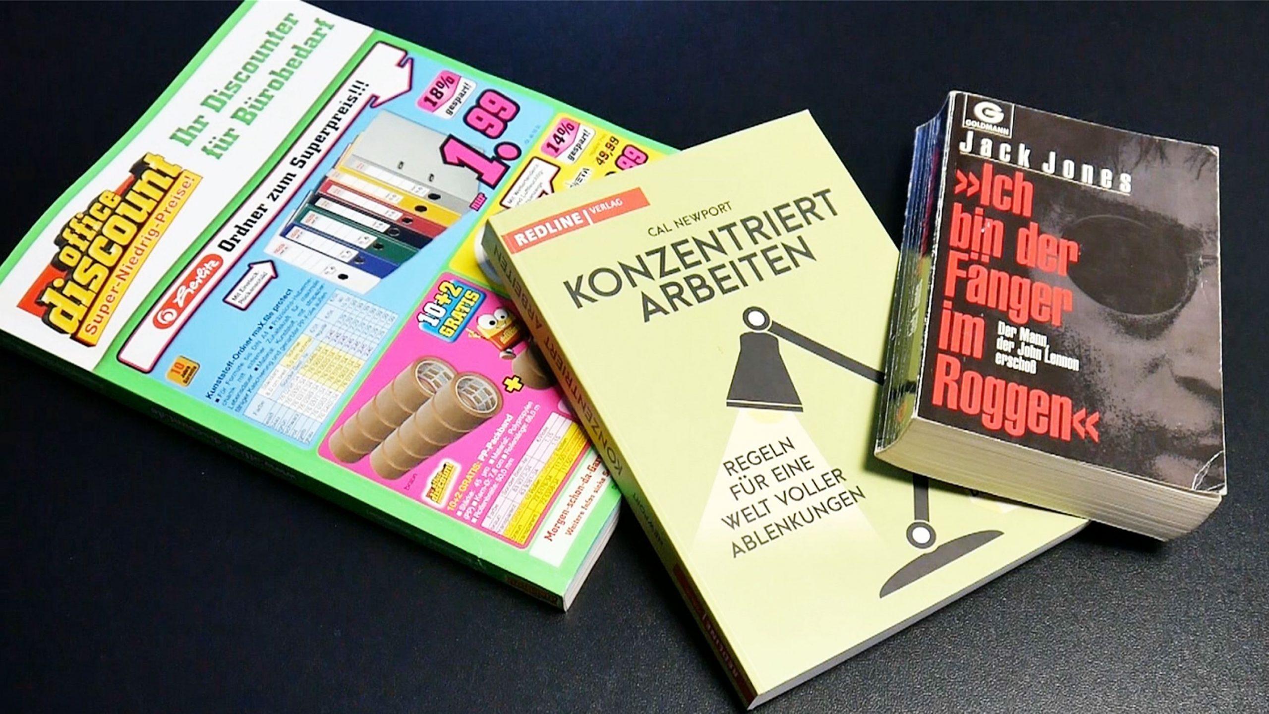 Broschüren, Prospekte, Bücher mit Klebebindung